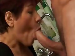 Blowjob, Cumshot, French, Mature
