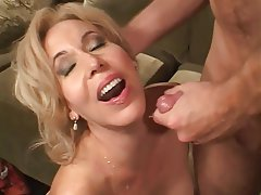 Mature, Blowjob, Blonde, Facial