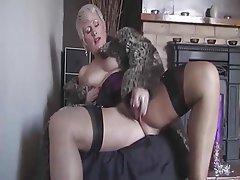 Blonde, Masturbation, Mature, MILF, Stockings