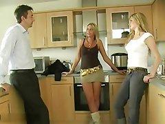 Cumshot, Handjob, Threesome