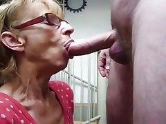 Blowjob, Cumshot, Facial, Granny, Mature