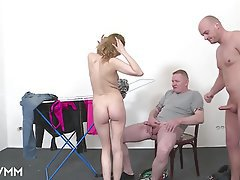 German, Mature, MILF, Threesome