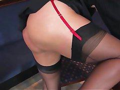 Lingerie, Masturbation, Mature, MILF, Pantyhose