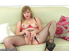 Mature, Stockings, MILF, British