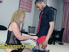 Amateur, Mature, Creampie, Interracial
