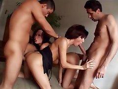 Anal, Brunette, Double Penetration, Group Sex, Hardcore