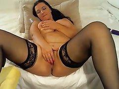 Dildo, Masturbation, Mature, Saggy Tits, Big Tits