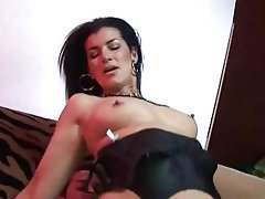 British, Cum in mouth, Double Penetration, Stockings