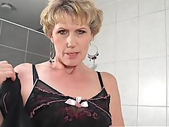 Granny, Mature, Small Tits, Bathroom