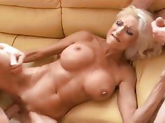 Big Boobs, Blonde, Hardcore, MILF, Threesome