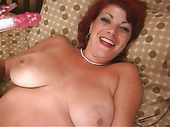 Masturbation, Mature, Redhead, Big Boobs