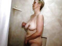 Granny, Masturbation, Mature, Shower