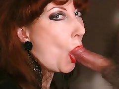 Blowjob, Facial, Lingerie, Mature, Redhead