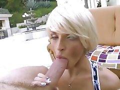 Blonde, Blowjob, Close Up, MILF